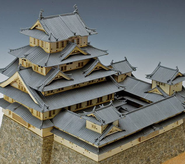 The national treasure of Himeji Castle in Japan was built in 1601 for 9 years.