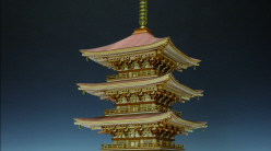 "1/75 Scale ""Hagurosan Five-Story Pagoda"" Wooden Japanese Temple Model, by Woody JOE"